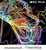 moving colorful lines of...   Shutterstock .eps vector #774455968