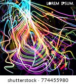 moving colorful lines of...   Shutterstock .eps vector #774455980