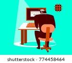 unsafe correspondence.... | Shutterstock .eps vector #774458464