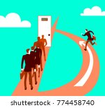 different ways of business.... | Shutterstock .eps vector #774458740