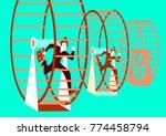 businessmen running in the... | Shutterstock .eps vector #774458794