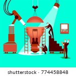 creating the idea together in... | Shutterstock .eps vector #774458848