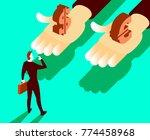 choice between currencies.... | Shutterstock .eps vector #774458968