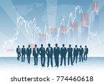 business team against the... | Shutterstock .eps vector #774460618