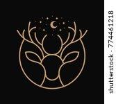 deer line art illustration | Shutterstock .eps vector #774461218