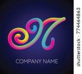 n letter logo icon blending... | Shutterstock .eps vector #774464863