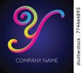 y letter logo icon blending... | Shutterstock .eps vector #774464893