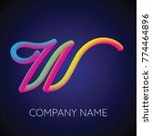 w letter logo icon blending... | Shutterstock .eps vector #774464896