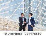 businessman being handshaking.... | Shutterstock . vector #774476650