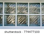 background of glass block on... | Shutterstock . vector #774477103