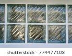 background of glass block on... | Shutterstock . vector #774477103