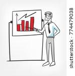 presentation schedule vector... | Shutterstock .eps vector #774479038