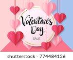 happy valentine's day design... | Shutterstock .eps vector #774484126