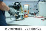 technician equipment repair and ... | Shutterstock . vector #774485428