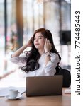 young asian beautiful... | Shutterstock . vector #774485443