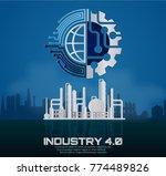 industry 4.0 concept image.... | Shutterstock .eps vector #774489826