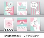 set of valentine's day card on... | Shutterstock .eps vector #774489844