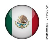mexico flag in glossy round... | Shutterstock .eps vector #774492724