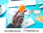 start up idea concepts with... | Shutterstock . vector #774494914