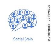 social brain concept. stock... | Shutterstock .eps vector #774495103