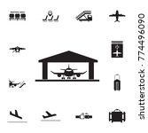 aircraft hangar icon. set of... | Shutterstock .eps vector #774496090