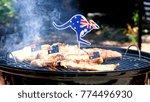 iconic australian bbq close up... | Shutterstock . vector #774496930