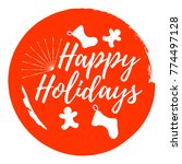 happy holidays and christmas... | Shutterstock .eps vector #774497128