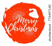 merry christmas label. font... | Shutterstock .eps vector #774497140