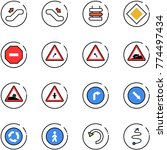 line vector icon set  ... | Shutterstock .eps vector #774497434