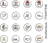 line vector icon set  ... | Shutterstock .eps vector #774497548