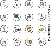 line vector icon set   dollar... | Shutterstock .eps vector #774497620