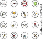 line vector icon set  ... | Shutterstock .eps vector #774497644