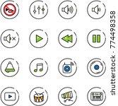 line vector icon set   no horn... | Shutterstock .eps vector #774498358