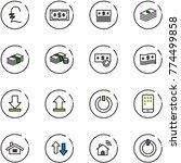 line vector icon set   pound...   Shutterstock .eps vector #774499858