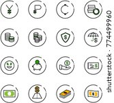 line vector icon set   yen... | Shutterstock .eps vector #774499960