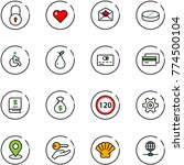 line vector icon set   lock... | Shutterstock .eps vector #774500104