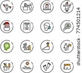 line vector icon set   traffic... | Shutterstock .eps vector #774501214