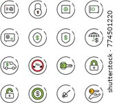 line vector icon set   safe... | Shutterstock .eps vector #774501220