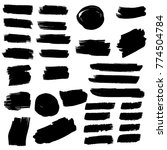collection of hand drawn grunge ... | Shutterstock .eps vector #774504784