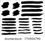 collection of hand drawn grunge ... | Shutterstock .eps vector #774504790