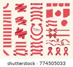 set of red ribbons  bows ... | Shutterstock .eps vector #774505033