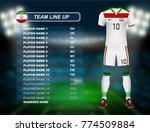 iran soccer jersey kit with... | Shutterstock .eps vector #774509884