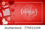 valentine's day sale web banner.... | Shutterstock .eps vector #774511144