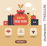 happy new year event web page... | Shutterstock .eps vector #774511150