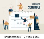 planning schedule giant... | Shutterstock .eps vector #774511153