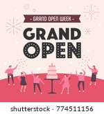grand open party people... | Shutterstock .eps vector #774511156