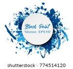 brush paint texture design... | Shutterstock .eps vector #774514120