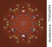 snowflake background. vector... | Shutterstock .eps vector #774516994