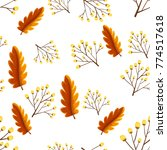seamless background with autumn ... | Shutterstock .eps vector #774517618