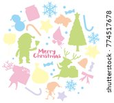 christmas card template with... | Shutterstock .eps vector #774517678